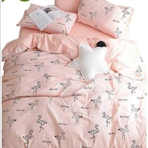 Other - Pink flamingo duvet cover Queen